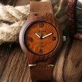 Caso Das Mulheres Dos Homens de Madeira Natureza Especial do vintage Genuíno Pulseira de Couro de Quartzo Relógio de Pulso De Madeira Projeto Relógios Presente relogio masculino