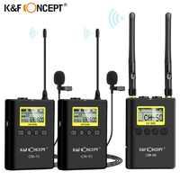 K & F concepto CM-10 UHF 100M profesional sistema con micrófono inalámbrico RECEPTOR + 2 transmisor para cámara DSLR cámara Video Mic