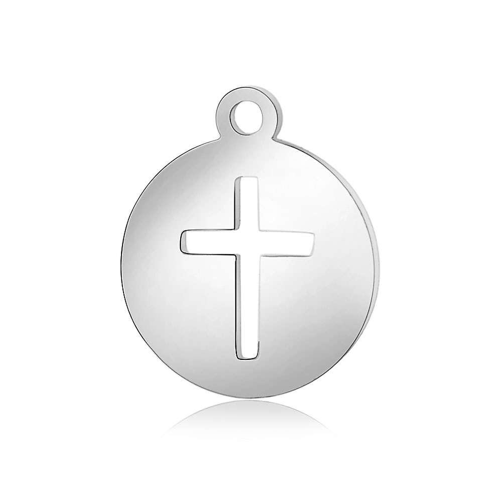 10Pcs/lot   Cross stainless steel pendant necklace DIY Charm Variety of styles can be single buy wholesale SLT066