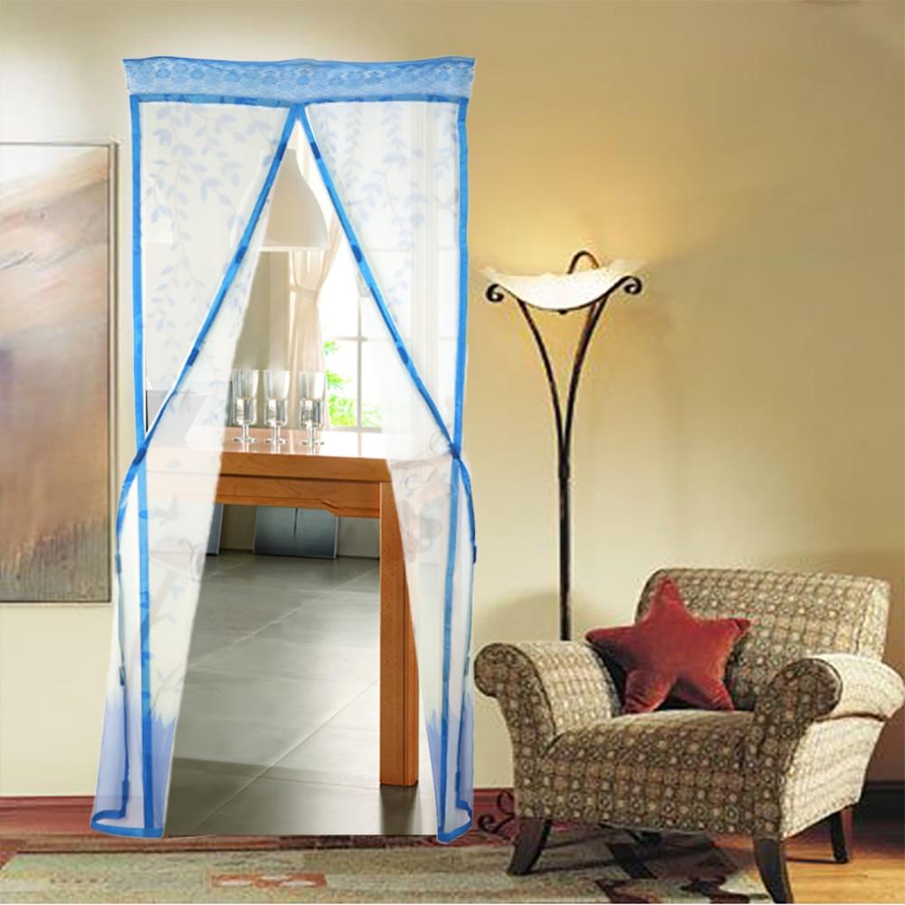4 Color cortina anti mosquito magnético tulle Cortina de ducha cierre automático puerta verano estilo malla neto