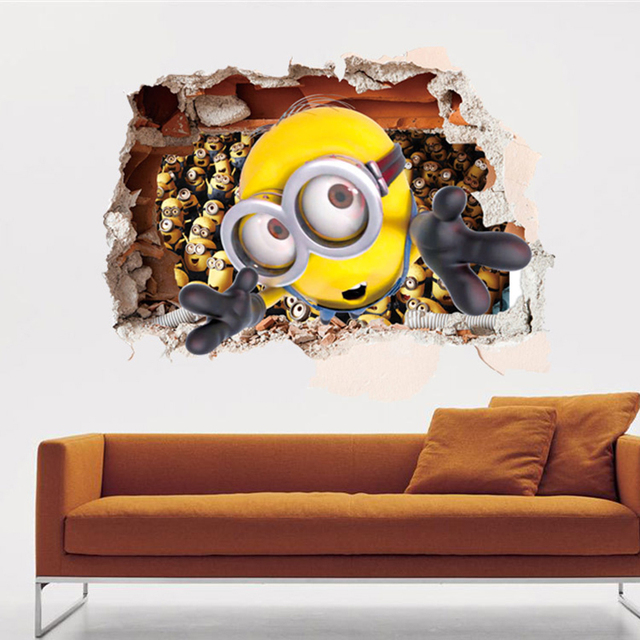 Removable Despicable Me Design Vinyl Wall Decor