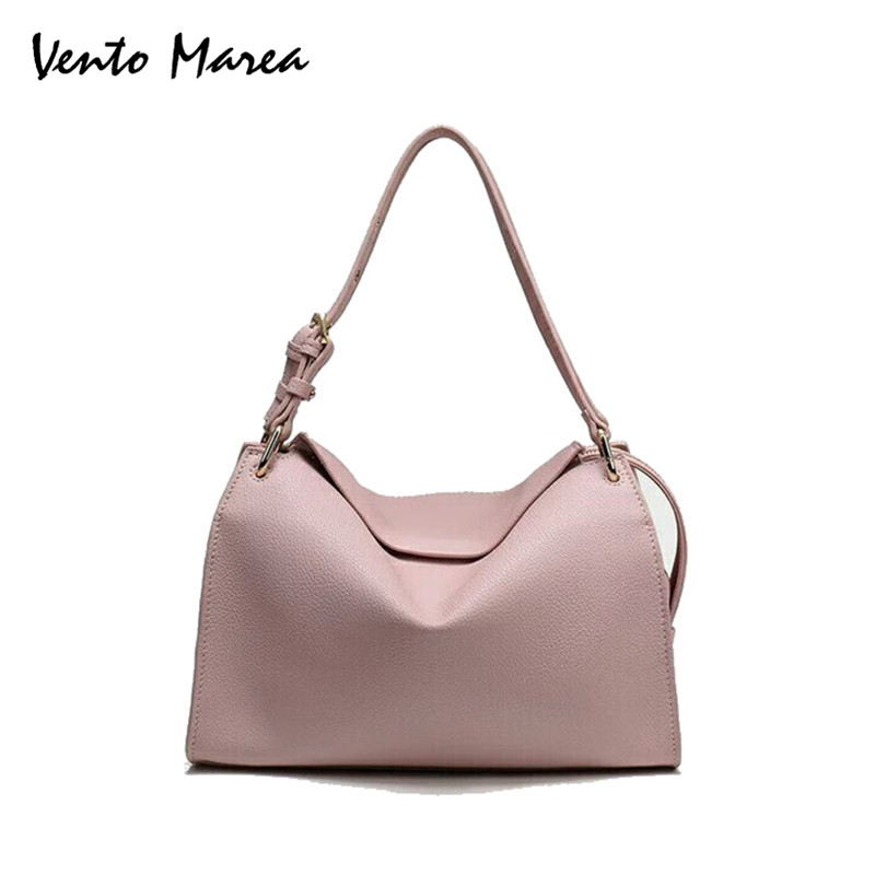 Vento Marea Brand Women Pillow Hand Bag Fashion Style Shoulder Bag Lady Casual PU Leather Totes