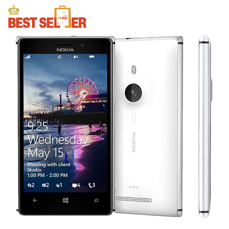 """Цена за Оригинальный телефон lumia 925 windows phone 4.5 """"1 ГБ 16 ГБ камеры 8.7mp gps wifi 4 г nokia lumia 925 mobile телефон бесплатная доставка"""