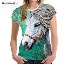 Nopersonality 2019 Funny 3D Horse T Shirt Women,Kawaii Unicorn T-shirt,Lady Tops Plus Size,Cute Licorne Tee Shirt Femme Toyouth