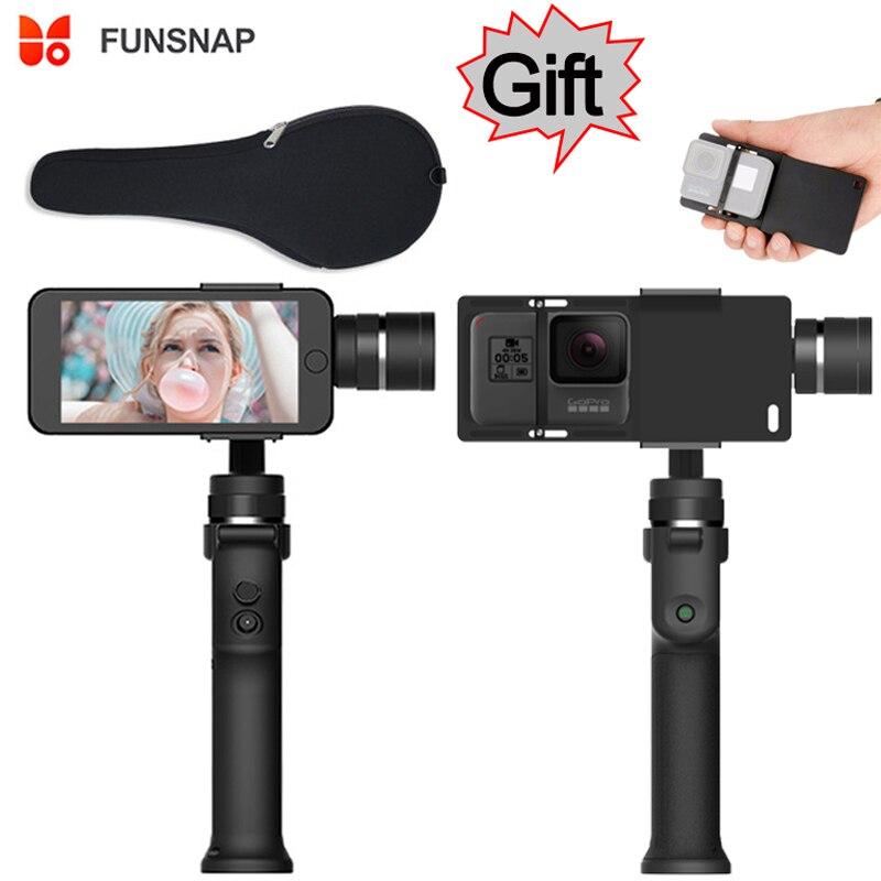 Funsnap захвата 3 оси телефон ручка Gimbal стабилизатор steadicam для смартфонов iPhone X 8 VS Zhiyun гладкой 4 Feiyu Vimble 2