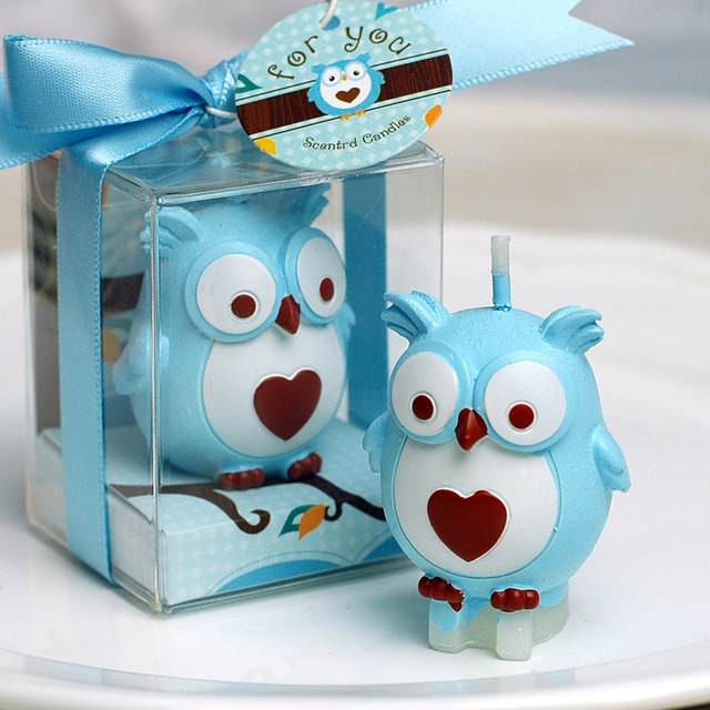 Online Shop Baby Shower Favors Birthday Part Owl Candle Gifts