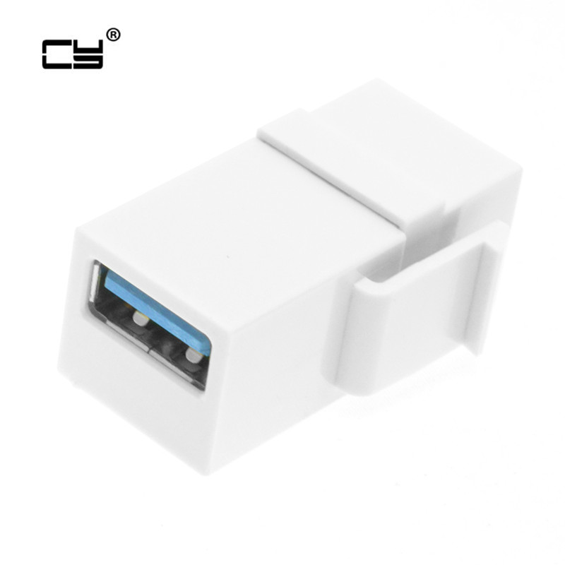 USB 3.0 A Female To A Female Extension Keystone Jack Coupler Adapter For Wall Plate Panel USB Cable