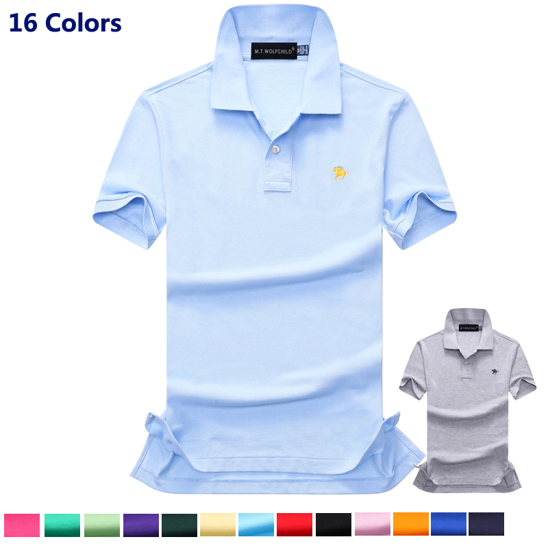 Top quality 2018 Summer mens New short sleeve small horse   polos   shirts casual cotton mens lapel   polos   fashion mens slim tops