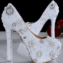 Celebration Party Pumps Beautiful 3 Inches Bridal High Heels Shoes Wedding Bridesmaid Shoes Rhinestone Party Shoes Evening Shoes