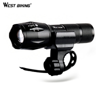 WEST BIKING Cycling Light Outdoor Hiking Mountainning Camping Fishing 5 Modes T6 The Zoom Strong Light