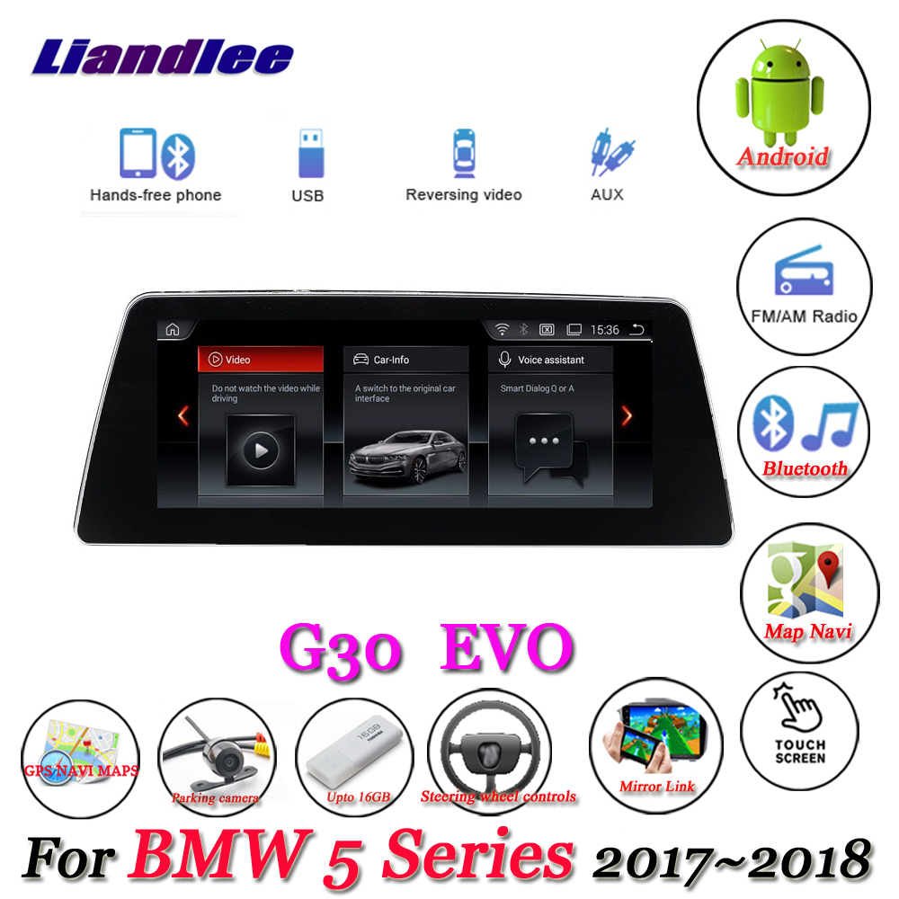 Liandlee For BMW 5 Series G30 2017~2018 Android Original EVO System Radio Idrive Wifi BT Carplay GPS Navi Navigation Multimedia liandlee for bmw 7 series f01 f02 f03 f04 730d 2008 2012 android original cic system radio idrive gps navi navigation multimedia
