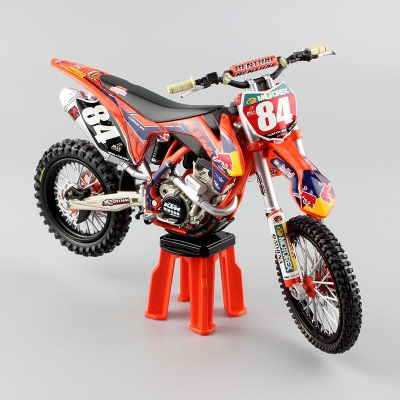 1:12 Scale Automaxx KTM SXF 250 No.84 Redbull Enduro Motocross SUPERMOTO Dirt Bike Motorcycle Red Bull Diecast Model Car Toy Boy