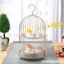 European-style afternoon tea bird cage cake rack, multi-layer snack rack, fruit frame, and tea rest buffet tray стоимость