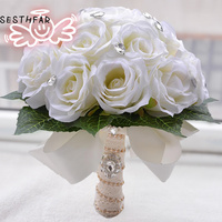 2018 Wedding Bouquet Bridal Holding Flowers Bridesmaid Flowers Bridal Bouquets Fast Shipping