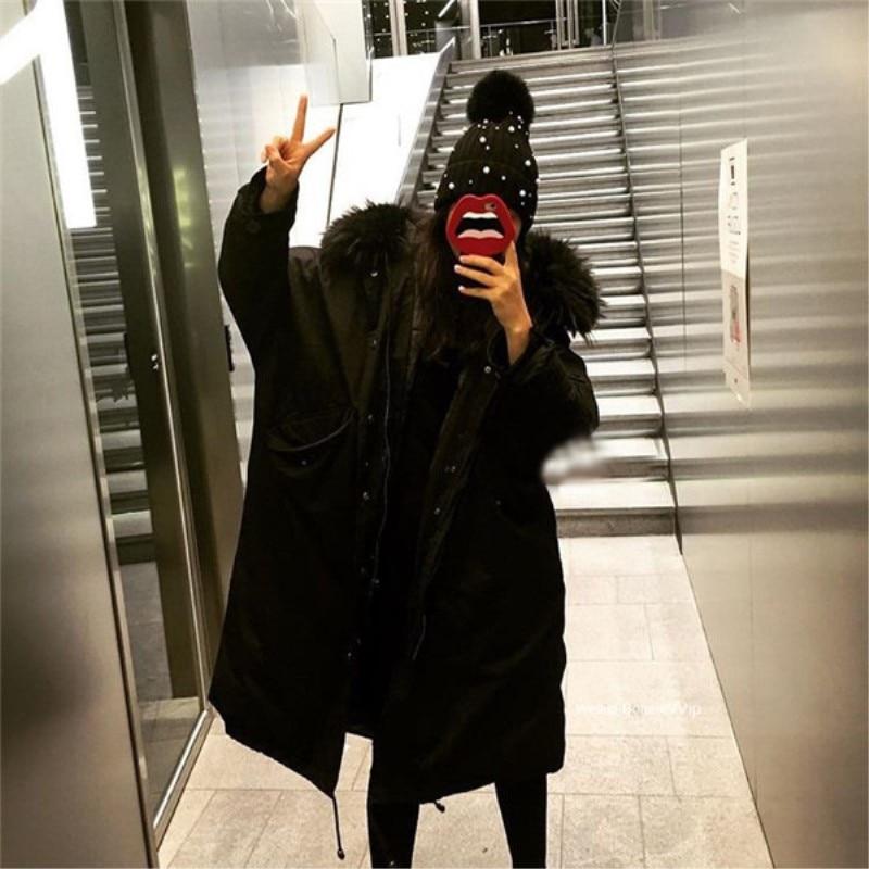 Chaud Lâche army Veste Rembourré Femelle 2018 Femmes Coton Green De Nouveau Automne En Col Casual Noir À Épais Parkas Hiver Outwear Capuche ardoisé Fourrure BYOw4qB