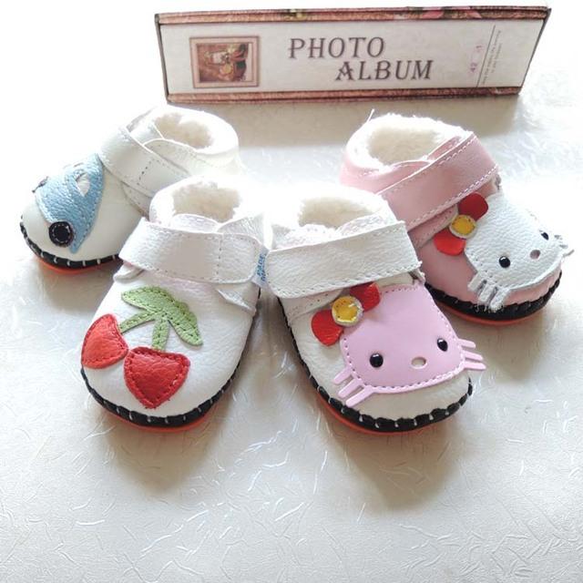 Novo ao ar livre cores acolchoado sapatos de crianças de couro macio sapatos de fundo de borracha crianças botas de inverno 1518 de couro genuíno
