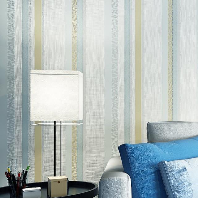 Beibehang Moderne Simple Large Raye Chambre Salon Fond Mur Ligne