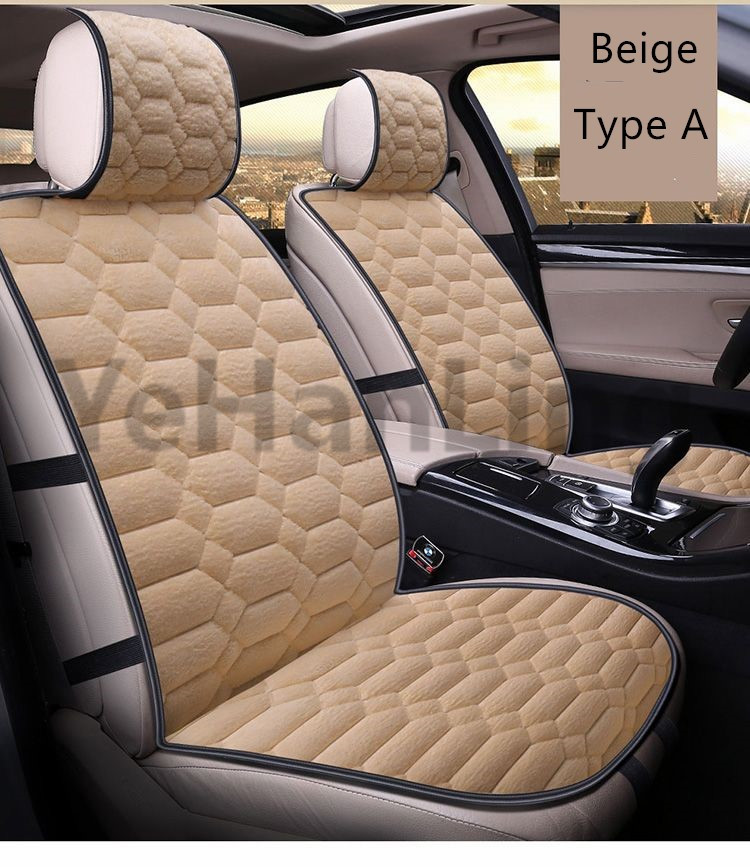 universal auto car seat covers set faux fur cute car interior accessories cushion styling winter. Black Bedroom Furniture Sets. Home Design Ideas