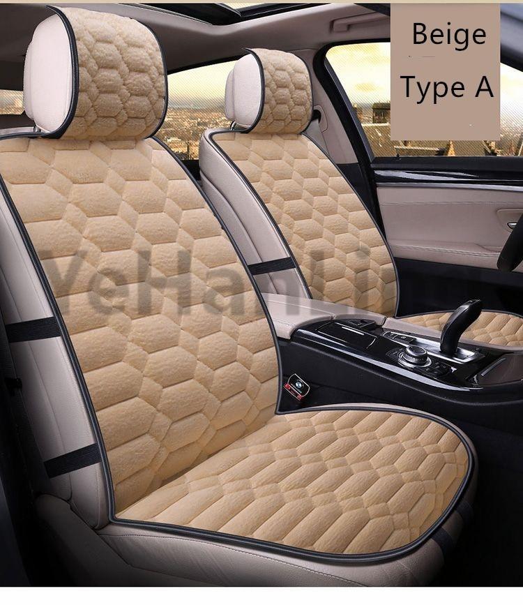 Universal Auto Car Seat Covers Set Faux Fur Cute Car