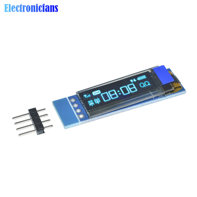 0.91 بوصة 128x32 IIC I2C الأزرق OLED شاشة الكريستال السائل DIY وحدة SSD1306 سائق IC DC 3.3 V 5 V لاردوينو PIC