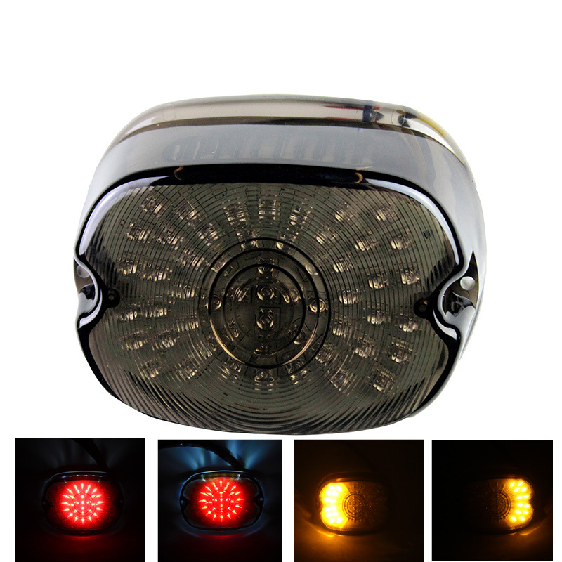 Home Analytical Smoke Led Tail Light For Sportster Dyna Electra Glide Road King Low Rider/sportster Softail Night Train Fat Boy