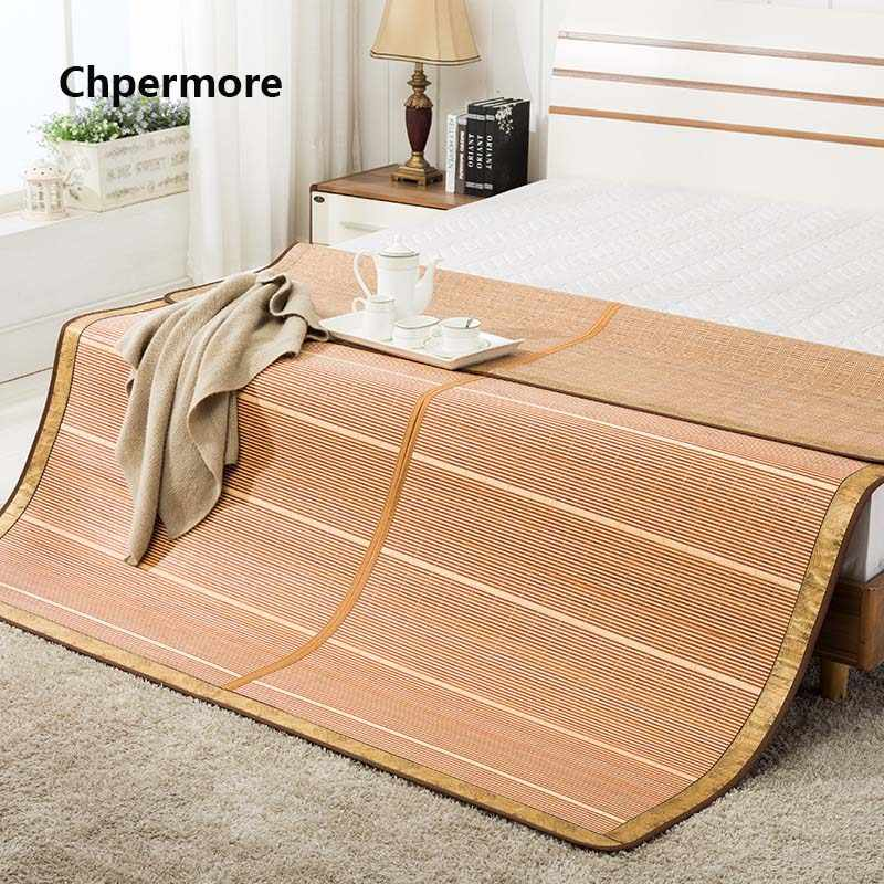 Chpermore 100 % Natural bamboo Mattresses Multi-function double-sided Foldable summer Cold Mattress King Queen Twin Full Size