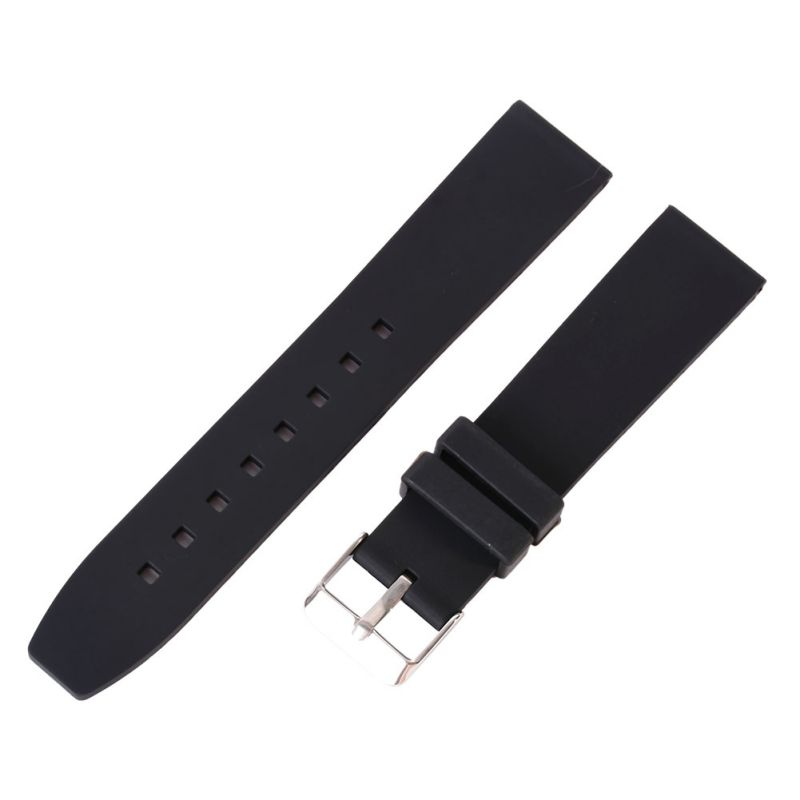 16-28mm Watch Band Strap Buckle+ Leather Butterfly Pattern Deployant Clasp