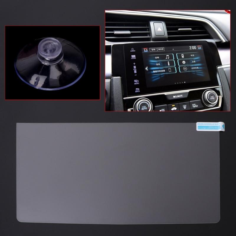 Tela de navegação gps do carro aço temperado película protetora para honda civic 10th 2016 2017 controle da tela lcd etiqueta do carro