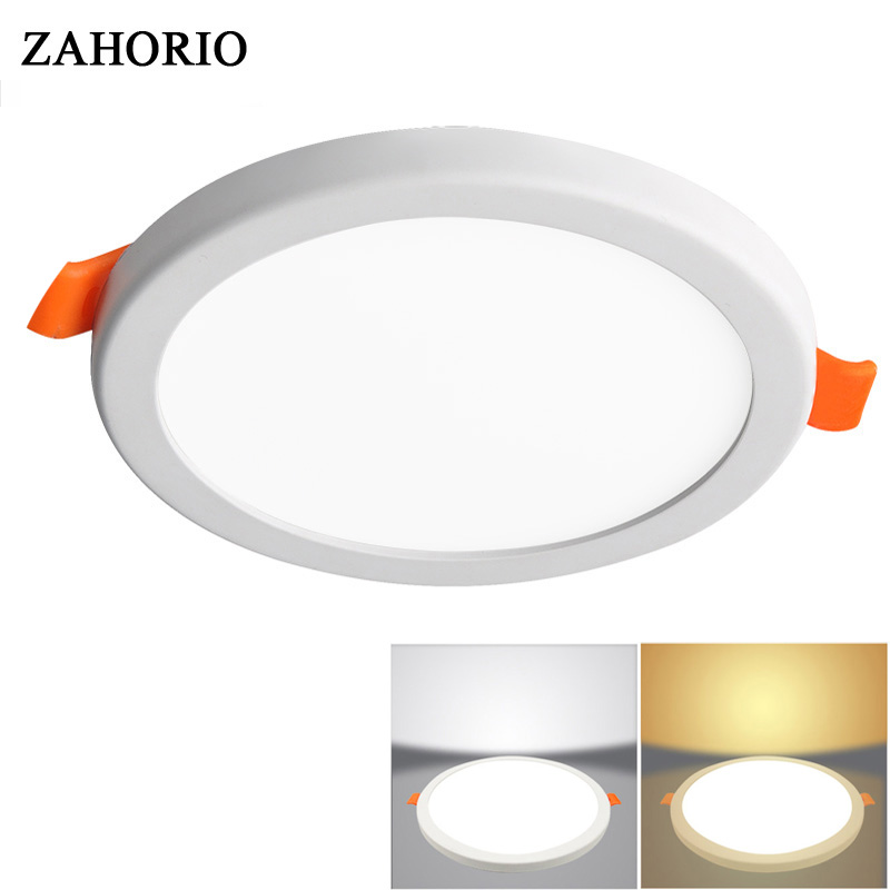LED Panel Light Round Ultra Thin Aluminum LED Ceiling ...
