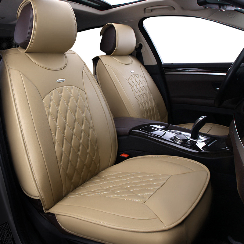 New Pu leather Auto Car Seat Covers Universal Automotive car seat cover for renault capture clio 2 4 duster fluence kadjar auto linen universal car seat cover for dacia sandero duster logan car seat cushion interior accessories automobiles seat covers