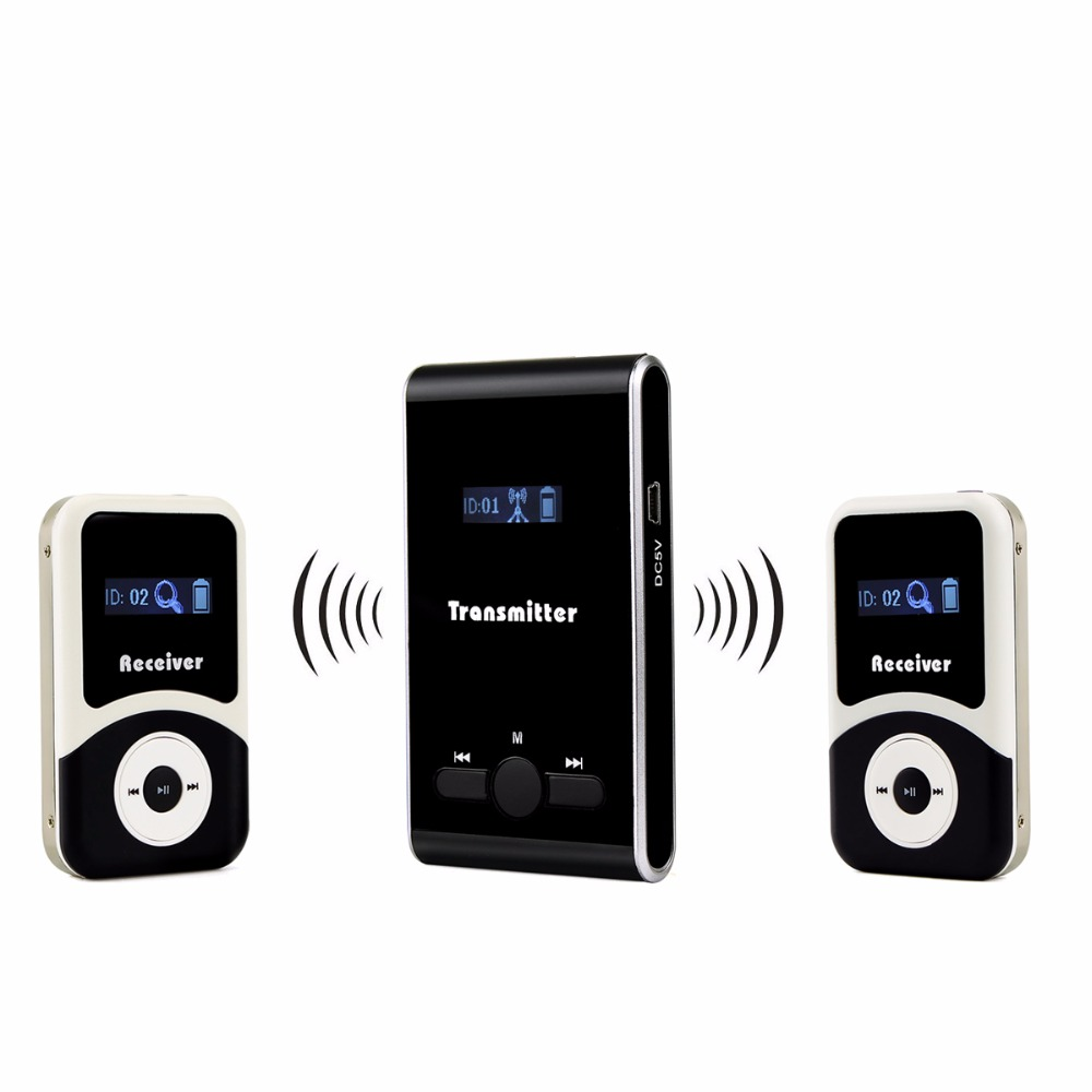 ANDERS Wireless Tour Guide system 1 Transmitter 2 Receiver for Tour Guiding Simultaneous Interpretation System F4506 new restaurant equipment wireless buzzer calling system 25pcs table bell with 4 waiter pager receiver