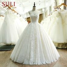 SL 221 وصول جديد حبيب الرقبة الدانتيل فستان الزفاف 2017
