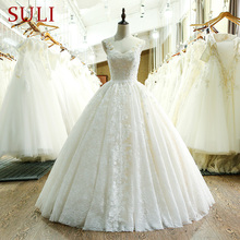 SL 221 새로운 도착 아가 목 레이스 웨딩 드레스 2017