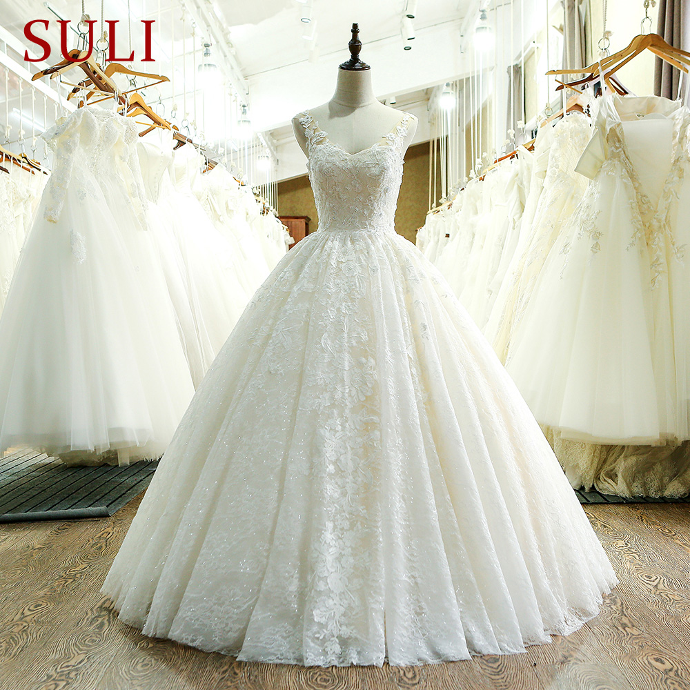 SL-221 New Arrival Sweetheart Neck Lace Wedding Dress 2017(China)