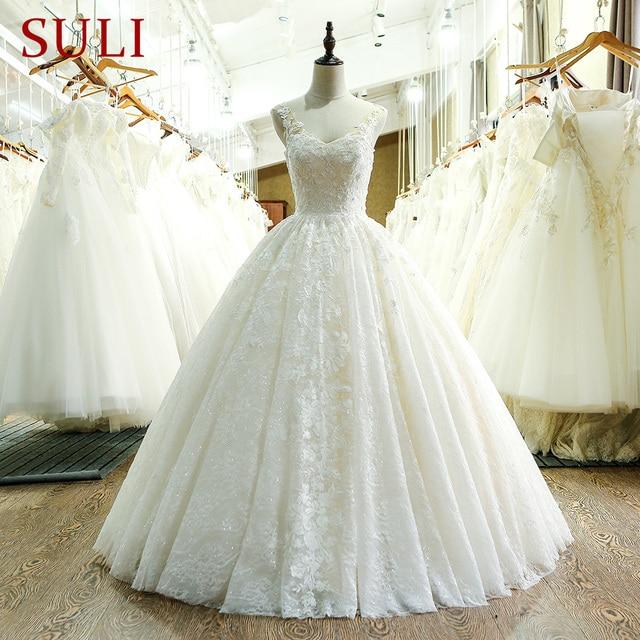 SL 221 New Arrival Sweetheart Neck Lace Wedding Dress 2017