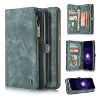 For Coque Galaxy S8 Plus Cases Premium Retro Zipper Wallet Leather Case Folio Magnetic Cover for Samsung S8 S8 Plus S9 S7Edge