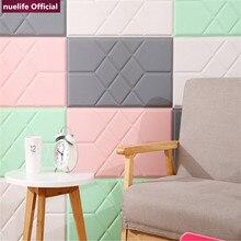 3D leather geometric pattern livingroom bedroom kidsroom weddingroom clothing store waterproof anti-collision foam wall stickers