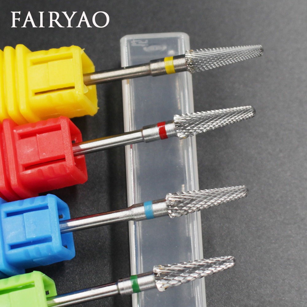 цена FAIRYAO Ceramic Nail Drill Bits Set Milling Manicure Cutters for Manicure Electric Nail Drill Machine Device Nail Art Accessory