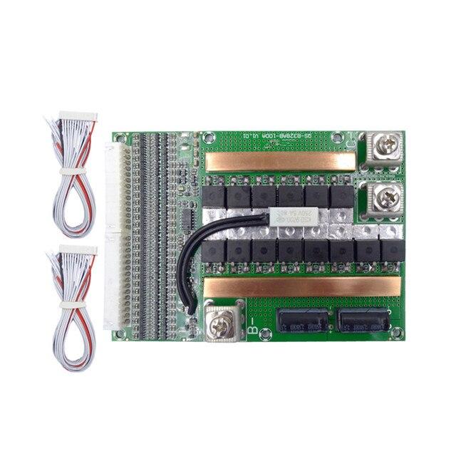 28S 100A ارتفاع الحالي بطارية ليثيوم لوح حماية 100V البوليمر مع التحكم في درجة الحرارة/ليثيوم أيون BMS المجلس
