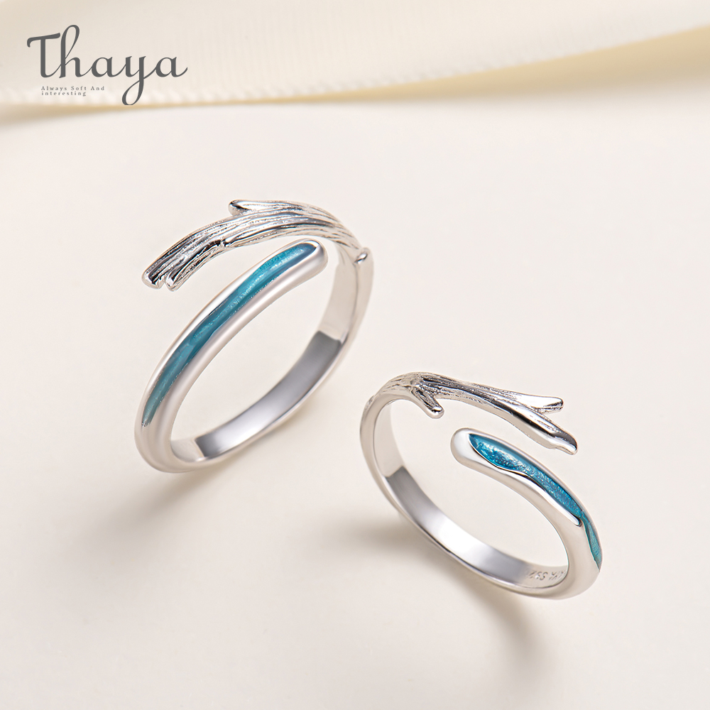 Thaya North and South Couple Rings High Quality S925 Silver Jewelry Ring For Wedding Engagement Gift