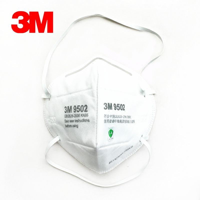 3M 9502 Dust mask 50pcs/Lot KN95 Anti-particulate Matter Anti PM2.5 Smog Protective Industrial Dust Influenza Virus Mask H012914