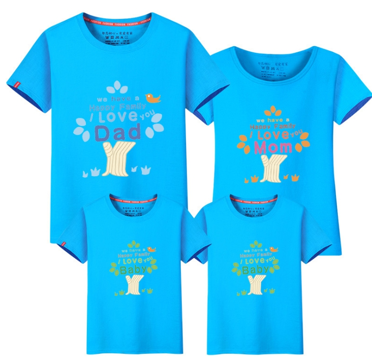 Family Short Sleeve T Shirt 2018 New Boys Girls Mom Dad T-shirt Cartoon Family Clothes Cotton Matching Kid Mother Clothing Fy058 ...