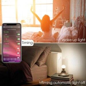Image 3 - Nowa bezprzewodowa Bluetooth 4.0 inteligentna żarówka lampa oświetleniowa domu 10W E27 magia RGB + W LED zmień kolor żarówka ściemniania IOS /Android