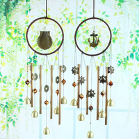 Dream catcher Metal Wind Chimes Hanging Decorations Heart nordic Room Decoration Crafts Wind chimes Girls room nursery decor