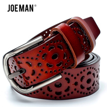 New Fashion Cowskin Leather Lady Belt Luxury Designers Hollow Out Belt For Women With Female Dress Top Quality