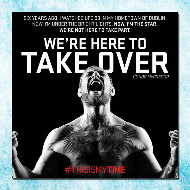 conor mcgregor mma ufc fight boxing champion art silk canvas poster