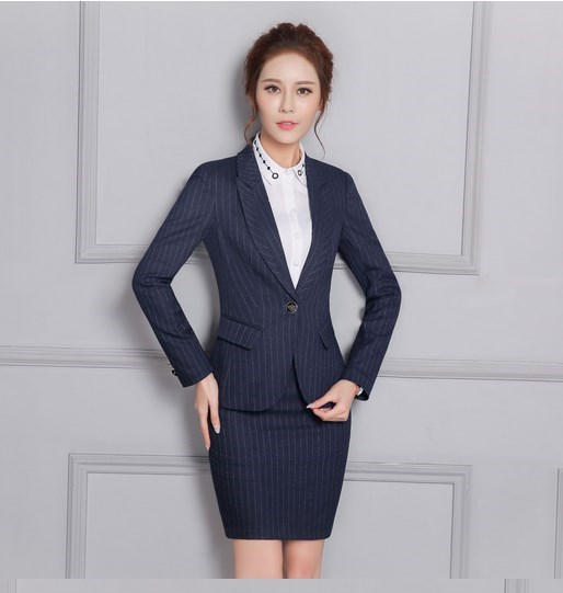 Online Get Cheap Women Office Skirt Suit Blue -Aliexpress.com ...