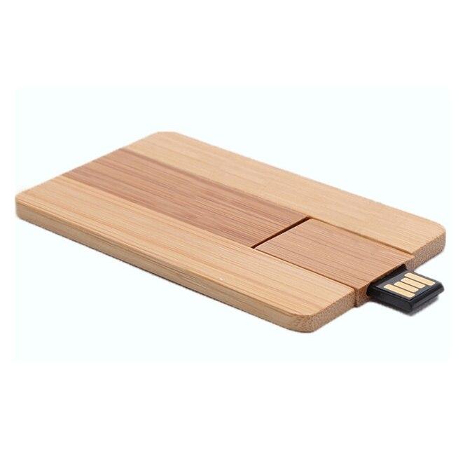 Wooden Credit Card USB Flash Drives 2.0 Pen Drive Memory Stick Pendrive 16GB 32GB 64GB Mini Usb Disk On Key Gifts 128GB 256GB