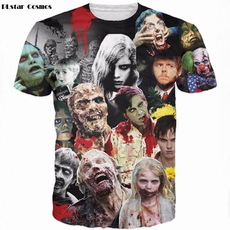 Harajuku Shirt The Walking Dead T-Shirt Rick Grimes Carl Daryl Michonne Zombies 3D Print Creative Pattern T Shirts for Men/Women