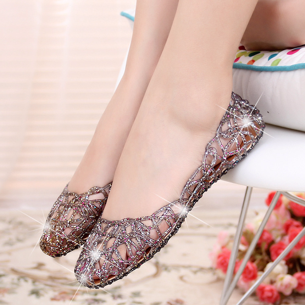 2018 Melissa jelly camellia sandals flip-flops summer shoes flat flat cool beach slippers women spelling today ages 8 9